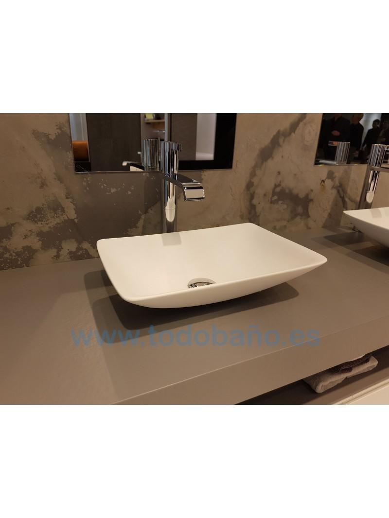 encimera de bao con lavabo sobre encimera