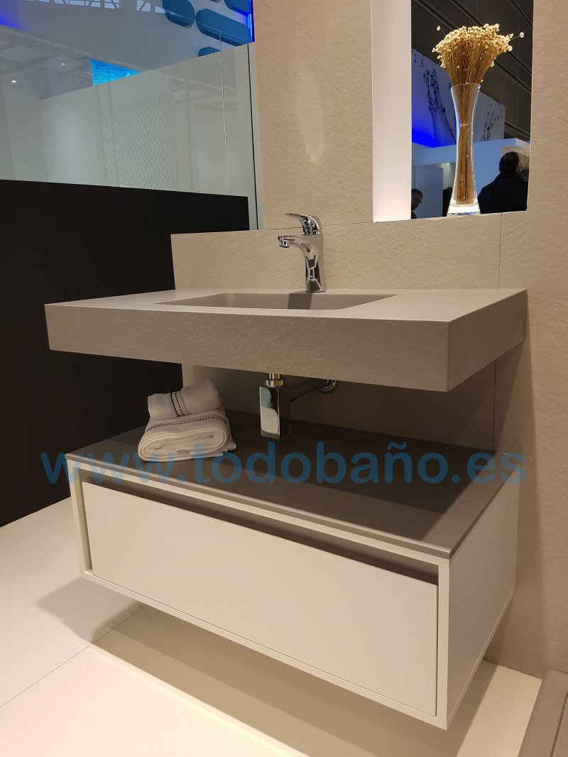 encimera de bao solid surface en color