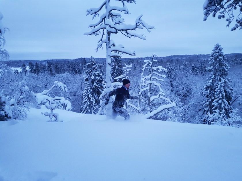 löpning snö