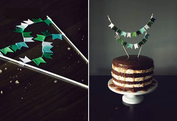 pastel de cumpleaños del empavesado