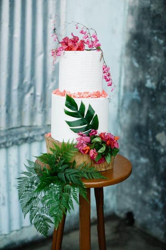 Tarta de bodas hawaiana