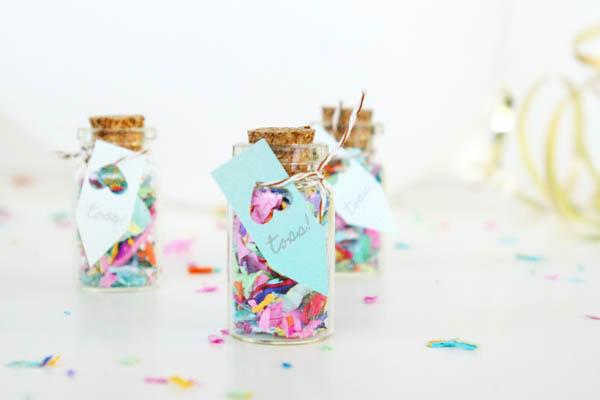 botellas de vidrio para arroz o confeti