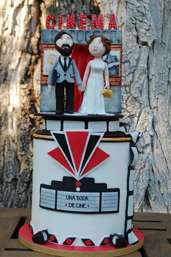 pastel de bodas de cine. boda de película