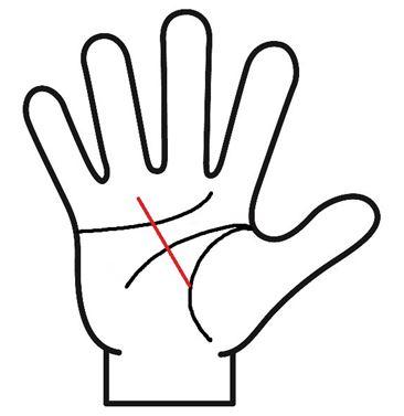 生命線から薬指に向かって伸びる線