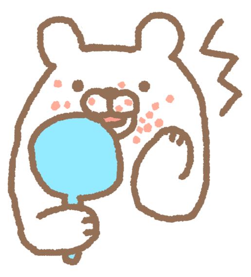 熊 手鏡 ビックリ シミ
