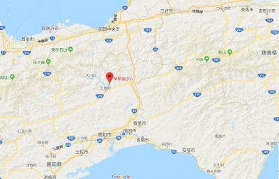 早明浦ダム地図