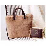リンネル 2018年1月号【付録】可愛い茶色のファーバッグとポーチのセット♪