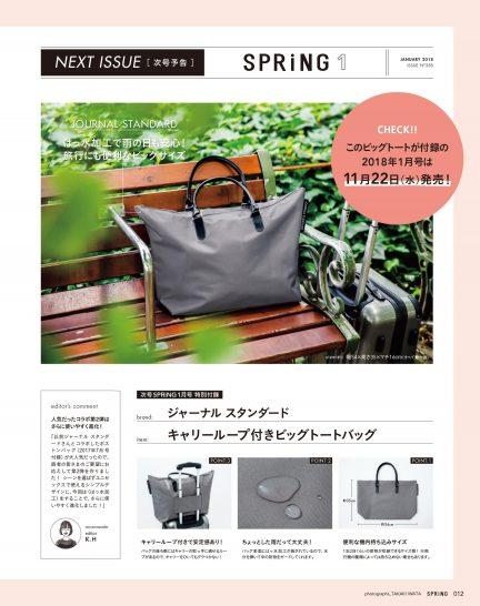 SPRiNG(スプリング) 2018年 1 月号 雑誌 – 2017/11/22