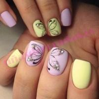Uñas pintadas ~ Ideas para uñas cortas y largas