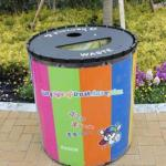 エリア別にデザインされたダストボックス(ゴミ箱)を楽しもう