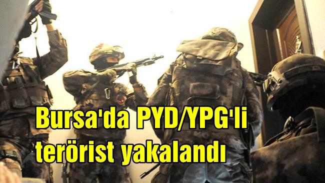 Bursa'da PYD/YPG'li terörist yakalandı