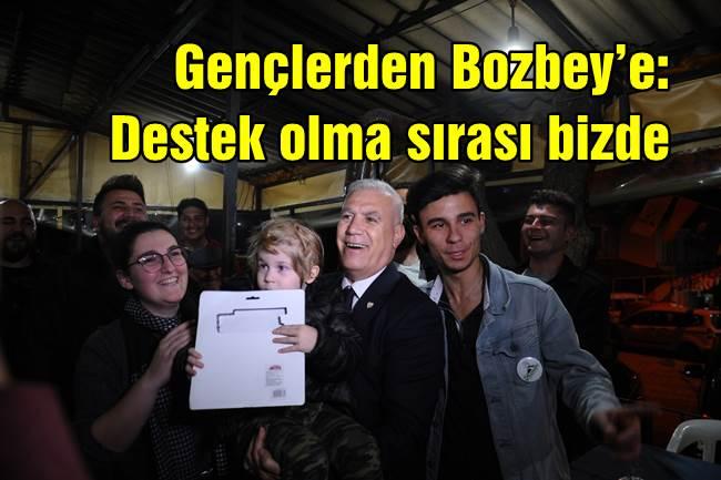 Gençlerden Bozbey'e: Destek olma sırası bizde