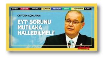 CHP'den 'EYT' açıklaması: Sorun mutlaka halledilmeli