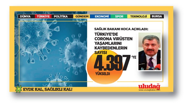 Türkiye'de son 24 saatte koronavirüsten ölen kişi sayısı açıklandı