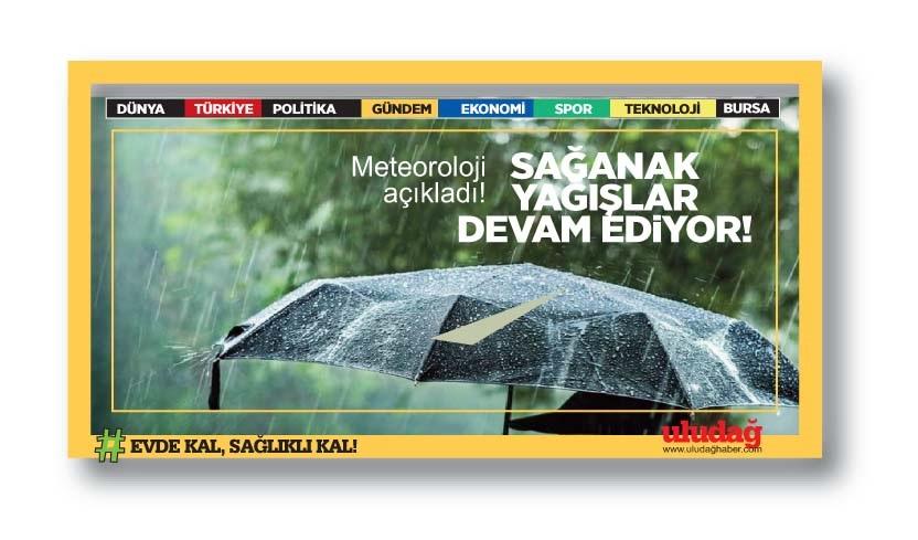 Meteoroloji açıkladı! Sağanak yağışlar devam ediyor
