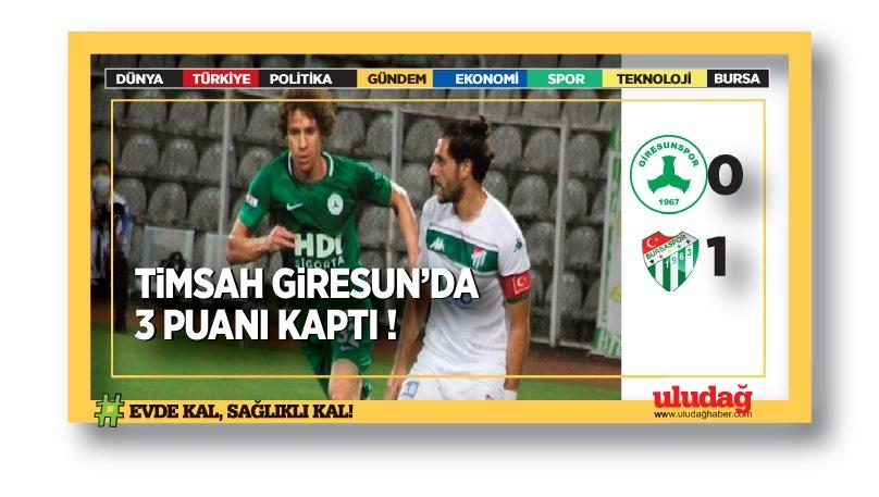 Giresunspor: 0 Bursaspor : 1