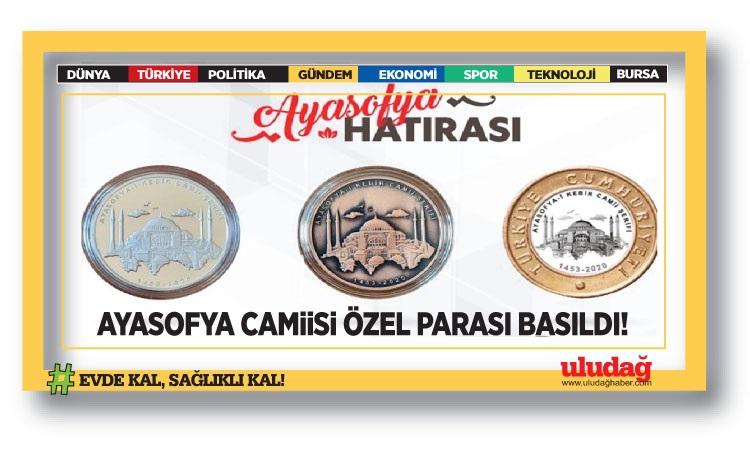 Ayasofya Camisi özel parası basıldı