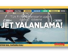 """""""Türk F-16'sı Ermenistan'ın uçağını düşürdü"""" iddiasına jet yalanlama"""