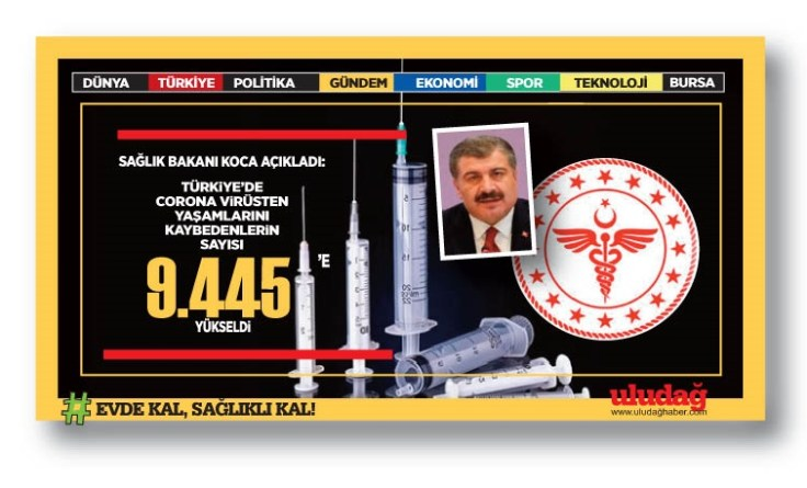 Bakan Koca son 24 saatin koronavirüs ölüm ve vaka sayılarını açıkladı