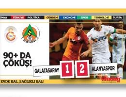 Galatasaray – Alanyaspor maç sonucu: 1-2