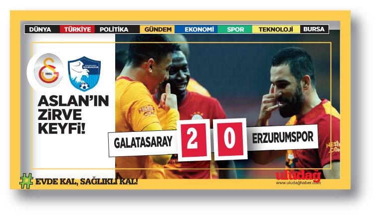 Galatasaray Erzurum'u rahat geçti…