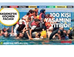 Akdeniz'de göçmen faciası: En az 100 kişi yaşamını yitirdi