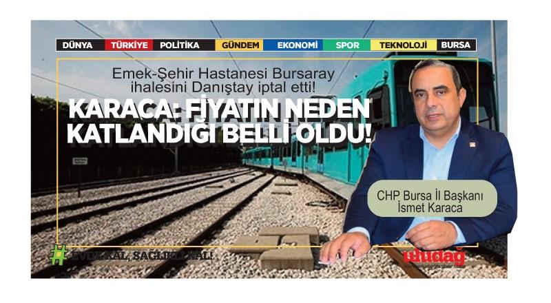 Emek-Şehir Hastanesi Bursaray ihalesini Danıştay iptal etti!