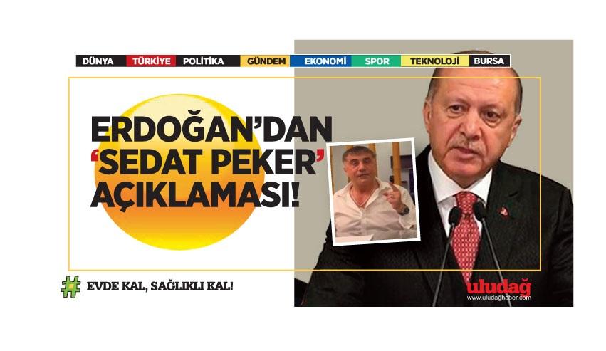 """Erdoğan'dan """"Sedat Peker"""" açıklaması"""
