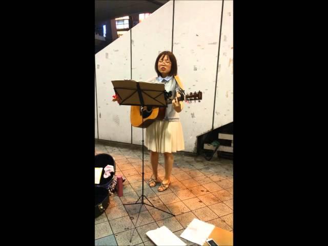 キノコ。カブトムシaikoカバー 路上ライブ