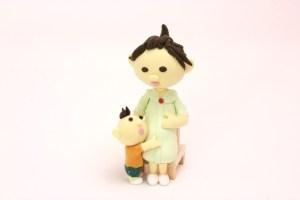 妊婦と子供 クレイ