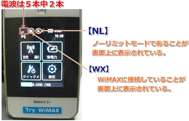 WiMAX ノーリミット