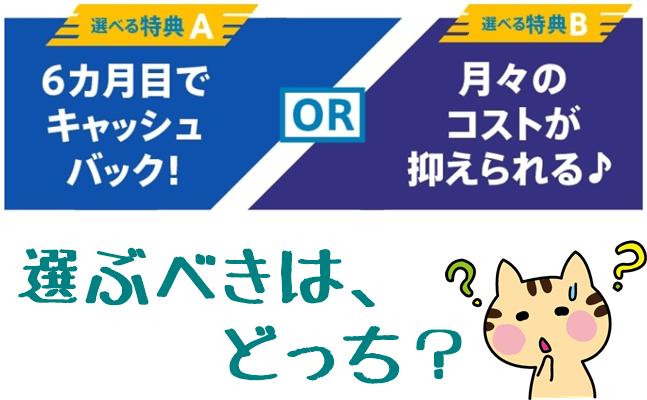 【BIGLOBE】のキャンペーン 口座振替ver.