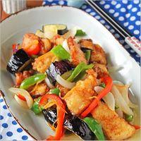鶏肉と夏野菜の酢玉ねぎ南蛮漬け