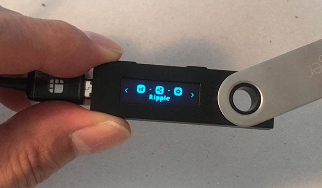 「Ledger Nano S」本体に「Ripple」が現れたらOKです