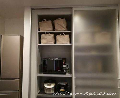 キッチン隠す収納事例