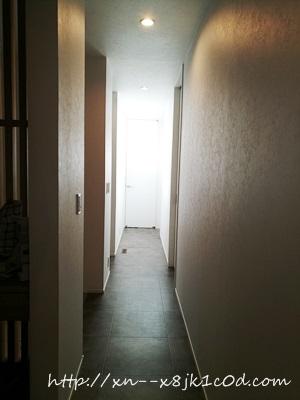 廊下のクッションフロア