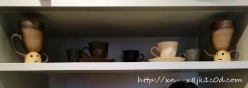 見せる収納にしたコーヒーカップ