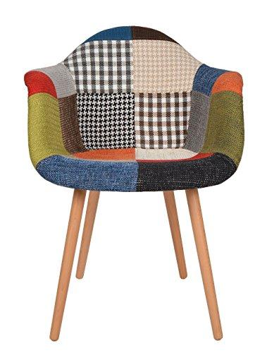 1 x Design Klassiker Patchwork Sessel Retro 50er Jahre Barstuhl Wohnzimmer Kchen Stuhl