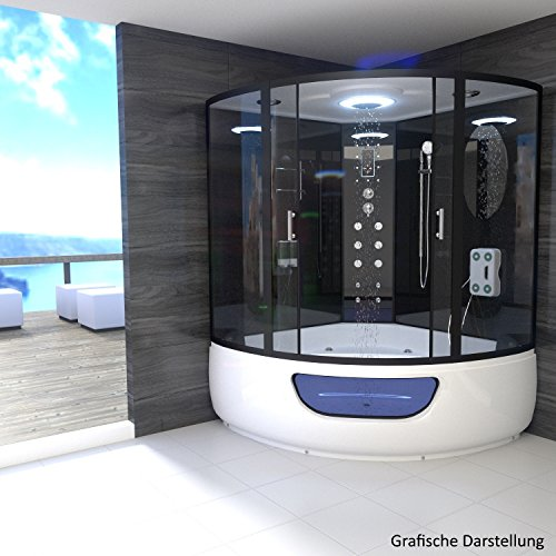 TroniTechnik Dampfdusche Duschtempel Whirlpool Badewanne