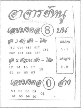 เลขเด็ด อาจารย์หนู 1/7/61, เลขเด็ด อาจารย์หนู 1-7-61, เลขเด็ด อาจารย์หนู 1 ก.ค. 2561, เลขเด็ดอาจารย์หนู, หวยซอง, เลขเด็ดงวดนี้