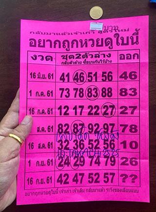 อยากถูกหวยดูใบนี้ 16/9/61, อยากถูกหวยดูใบนี้ 16-9-61, อยากถูกหวยดูใบนี้ 16 ก.ย 61, หวยซอง, หวยซองฟันธง, เลขเด็ดงวดนี้, เลขเด็ด