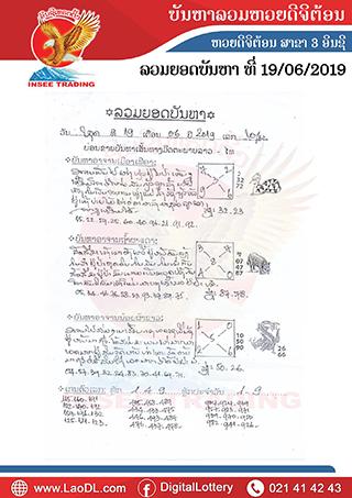 ปัญหาพารวย 19/6/2562, ปัญหาพารวย 19-6-2562, ปัญหาพารวย, ปัญหาพารวย 19 มิ.ย 2562, หวยลาว, เลขลาว