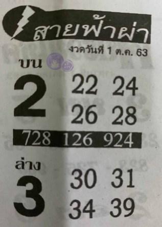 หวยซอง สายฟ้าผ่า 1/10/63, หวยซอง สายฟ้าผ่า 1-10-2563, หวยซอง สายฟ้าผ่า 1 ต.ค. 2563, หวยซอง, หวยซอง สายฟ้าผ่า, เลขเด็ดงวดนี้, เลขเด็ด, หวยเด็ด
