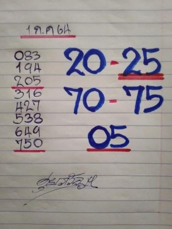 เลขหวยเขียน เลขดังเลขเด็ดโดนใจที่ตามหา งวด 1/7/64
