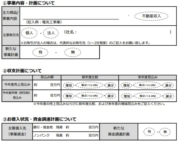 オリックス・クレジット:オリックスVIPローンカード BUSINESSの提出書類