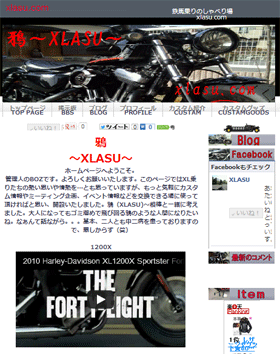 xlasu.com ホームページビルダー使用例