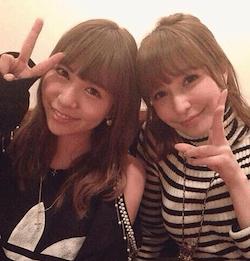 河西智美(左)と藤井リナ(右)