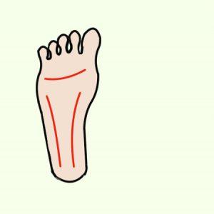 右足の裏2