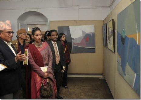 manisha - bijaya thapa- art exibition