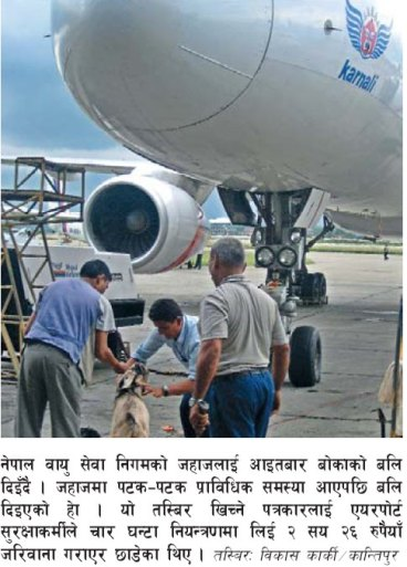 Nepal Airlines: sacrifice